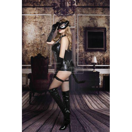 Черный костюм Страстная Полуночная Кошечка S/M JSY