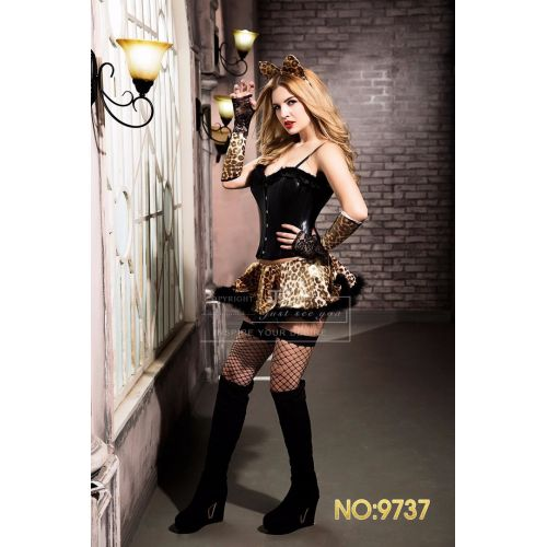 Сексуальный костюм Леопардовой Страстной кошечки МЯУ S/M JSY