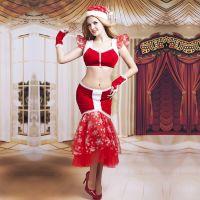 Эротический женский костюм для ролевых игр Возлюбленной Санты JSY S/M
