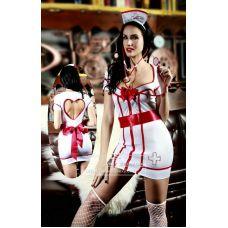 Интимный костюм кокетки медсестры S/M JSY
