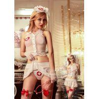 Интимный костюм Знойной медсестры с открытой спиной для секса S/M JSY