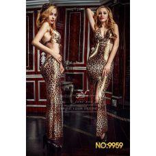 Леопардовое платье с открытой спиной Агрессивная кошечка S/M
