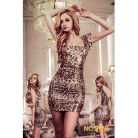 Мини-платье леопардовая искусительница S/M JSY