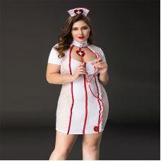 Костюм для Ролевых Игр Большая Горячая медсестричка XL/XXL