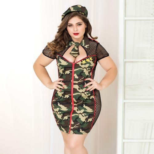 Эротический костюм JSY армейской красотки размер L/XL