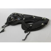 Кожаная маска CABARET кожаная для БДСМ Scappa M-7