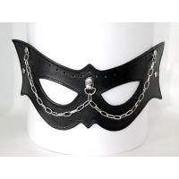 Кожаная маска кошки с цепочкой из кожи Scappa M-9