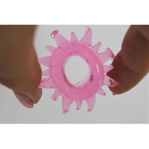Набор эрекционных колец 1,5 см эластичных со стимуляцией клитора силиконовых M.E.D. 6 шт