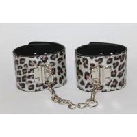 Наручники для секса серебряный леопард Notabu MLF-90037-9