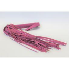 Плетка из экокожи с 30 хвостами с петелькой на руку Notabu фиолетовая L рукояти 15,5 см L хвоста 24,5