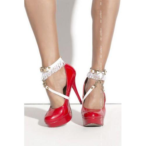 Украшение на ноги под обувь белое SO 02 Me-Seduce