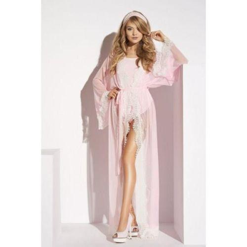 Сексуальный халат длинный розовый Me-Seduce Ardea Lume di Luna M