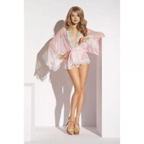 Сексуальный халат розовый Me-Seduce Ardea robe Lume di Luna S