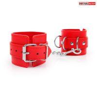 Наручники красные для любителей БДСМ TET