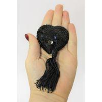 Пэстисы-наклейки на соски в форме сердца Notabu цвет чёрный