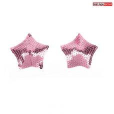 Пэстисы на соски в виде звёздочек розовый Notabu