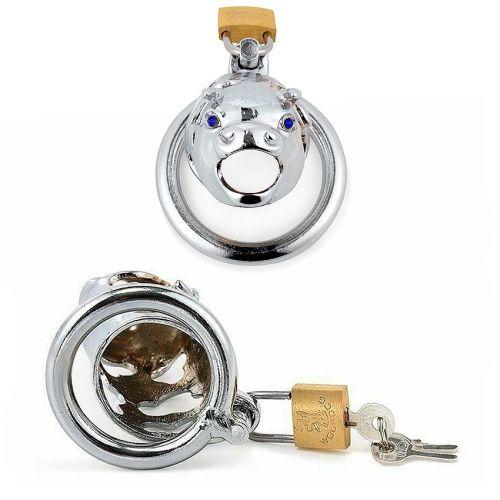 Пояс верности металлический для мужчин L 80 мм D насадки 34 мм D кольца 45 мм
