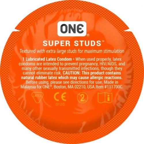 Презервативы с точечной структурой ONE Super Studs 1 шт