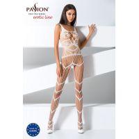 Эротический женский Бодистокинг Passion BS058 white Белый
