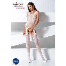 Эротический женский Бодистокинг Passion BS061 white Белый