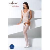 Эротический женский Бодистокинг Passion BS062 white Белый
