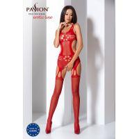 Эротический женский Бодистокинг Passion BS066 red Красный