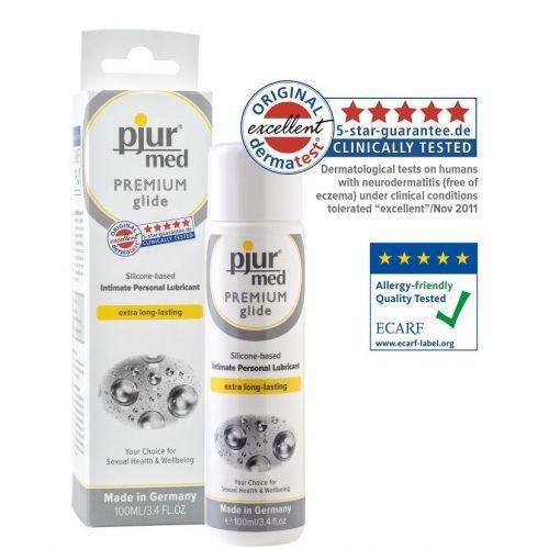Лубрикант на силиконовой основе pjur MED Premium glide 100 мл для сухой и чувствительной кожи вагинальный (Пьюр, Пджюр)