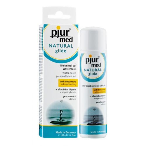Лубрикант на водной основе pjur MED Natural glide 100 мл вагинальный для сухой кожи увлажняющий  (Пьюр, Пджюр)