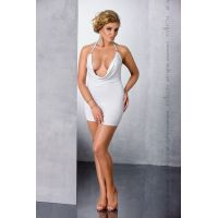 Эротическое платье белое MIRACLE CHEMISE white 4XL/5XL Passion