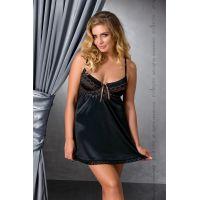 Эротическая сорочка черная SHARON CHEMISE black 4XL/5XL Passion