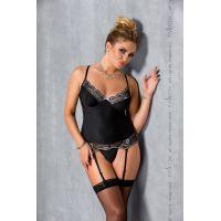 Сексуальный корсет EDITH CORSET black 4XL/5XL Passion
