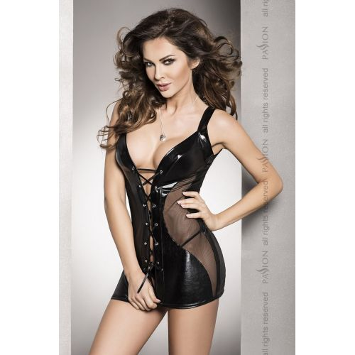 Эротическая сорочка-платье DONATA CHEMISE black XXL/XXXL - Passion