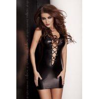 Секси платье под латекс LIZZY DRESS black S/M - Passion
