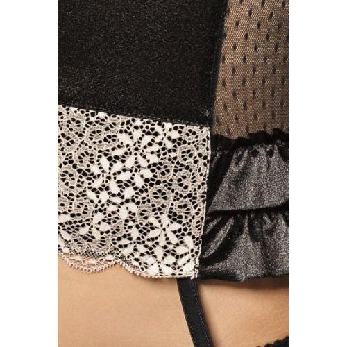 Сексуальный женский корсет ROMA CORSET black L/XL - Passion