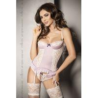 Соблазнительный женский корсет SHANTI CORSET pink S/M - Passion