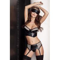 Эротический комплект для женщин VIRGIN SET black L/XL - Passion