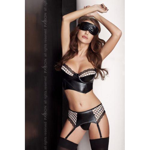 Эротический комплект для женщин VIRGIN SET black S/M - Passion