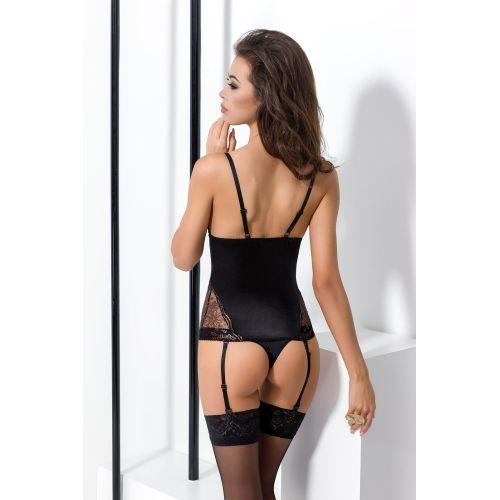 Эротический женский корсет BRIDA CORSET black L/XL - Passion