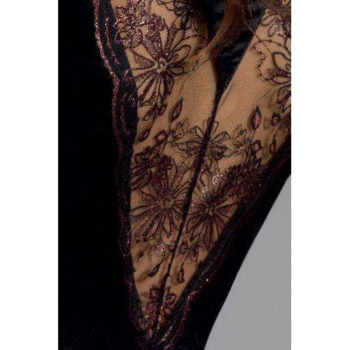 Эротический черный пеньюар BRIDA PEIGNOIR black L/XL - Passion