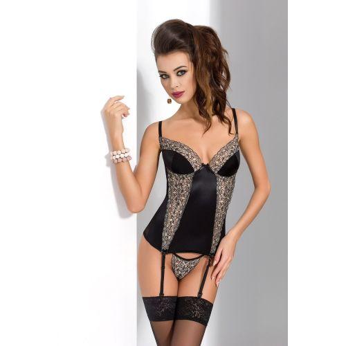 Сексуальный женский корсет MONTANA CORSET black L/XL - Passion