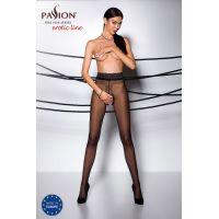 Эротические колготки с кружевным поясом на силиконе TIOPEN 001 nero 3/4 (20 den) - Passion Страсть