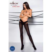 Эротические колготки с эффектом стильного пояса TIOPEN 005 nero 1/2 (60 den) - Passion Страсть