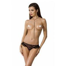 Трусики сексуальные черные DONIA THONG S/M Passion Exclusive