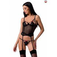 Корсет интимный черный PERDITA CORSET L/XL Passion Exclusive