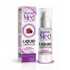 Возбуждающий лубрикант с ароматом лесных ягод (Жидкий вибратор) Amoreane Med 30 ml
