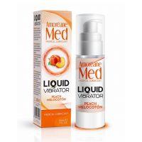 Возбуждающий лубрикант с ароматом персика (Жидкий вибратор) Amoreane Med 30 мл