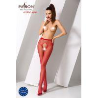 Эротические колготки с сексуальным вырезом на сладких местах S019 red Красные Passion Страсть