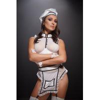Эротический костюм повара для ролевых игр размер M белый
