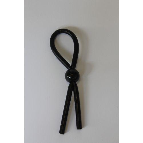 Кольцо эрекционное Долгий и Страстный Секс ЛАССО силиконовое черного цвета