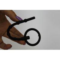 Уретральный стимулятор 11,5 см/0,8 см гибкий силиконовый с ограничителем SEX EXPERT чёрный